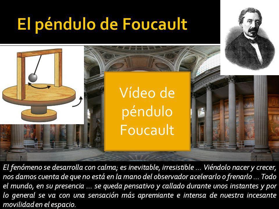 Vídeo de péndulo Foucault