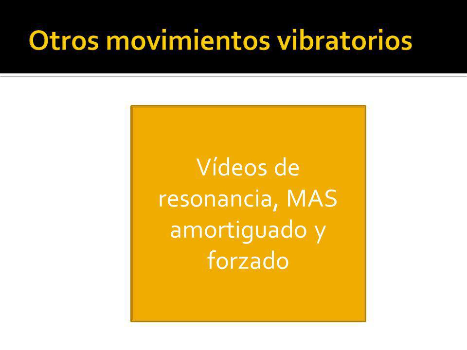 Otros movimientos vibratorios