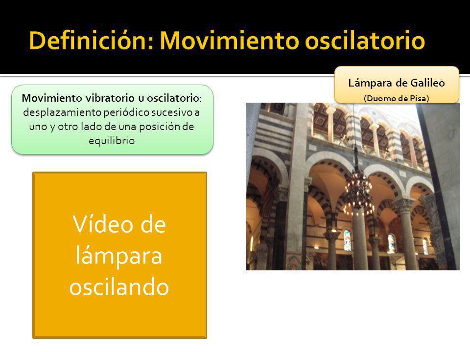 Definición: Movimiento oscilatorio