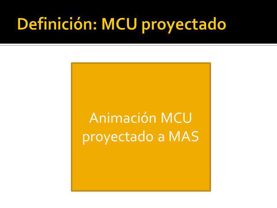 Definición: MCU proyectado