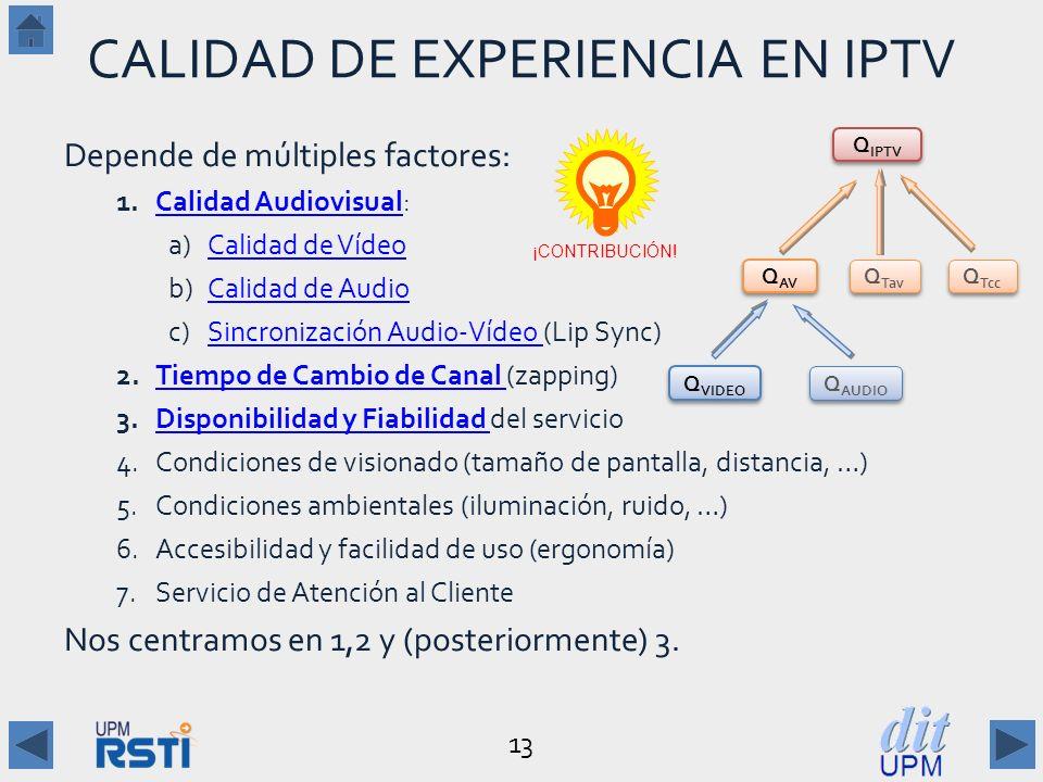 CALIDAD DE EXPERIENCIA EN IPTV
