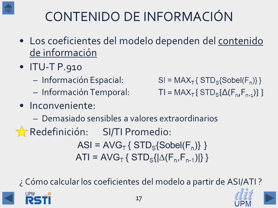 CONTENIDO DE INFORMACIÓN