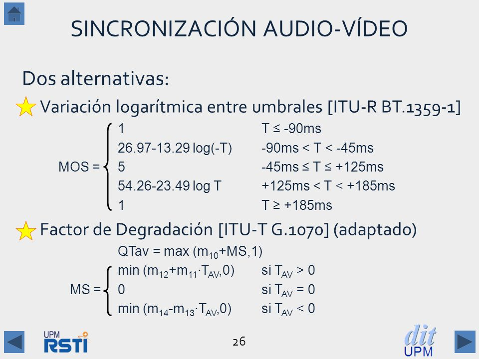 SINCRONIZACIÓN AUDIO-VÍDEO