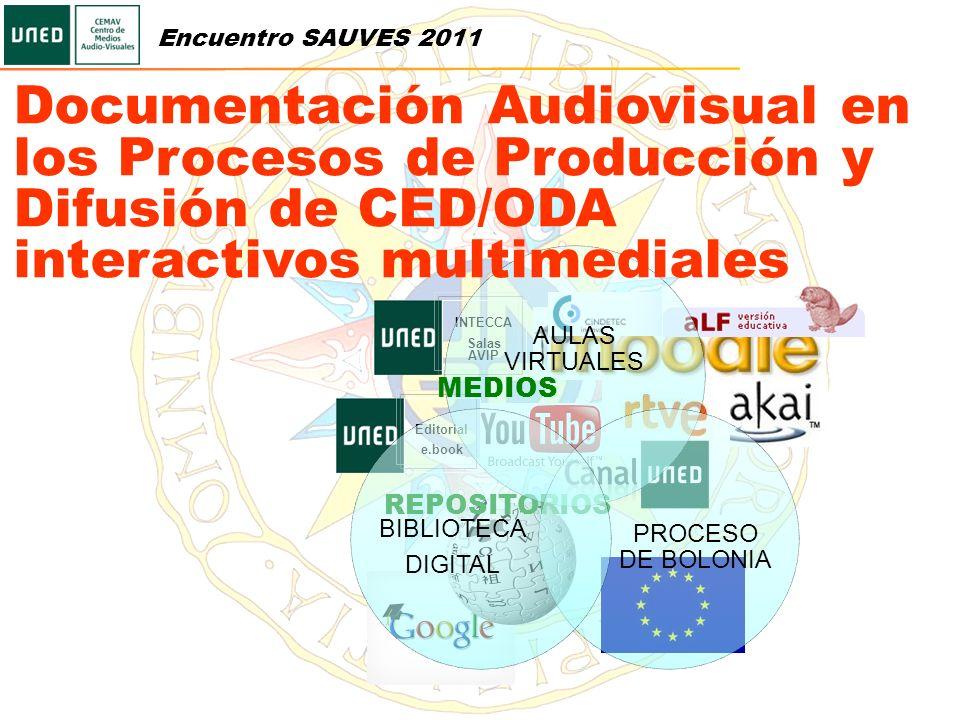 Encuentro SAUVES 2011 Documentación Audiovisual en los Procesos de Producción y Difusión de CED/ODA interactivos multimediales.