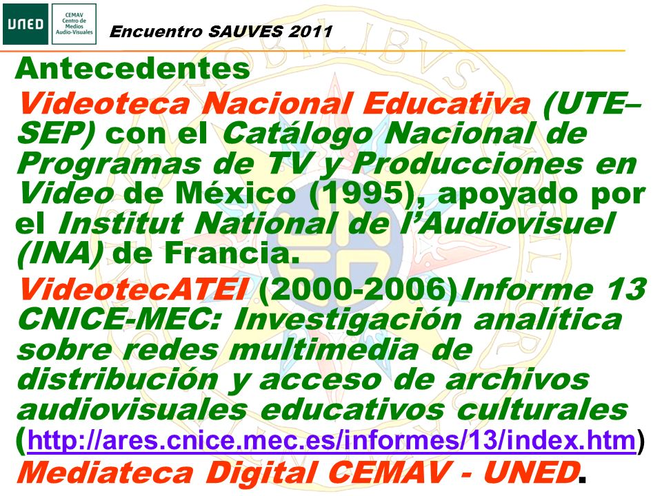Mediateca Digital CEMAV - UNED.