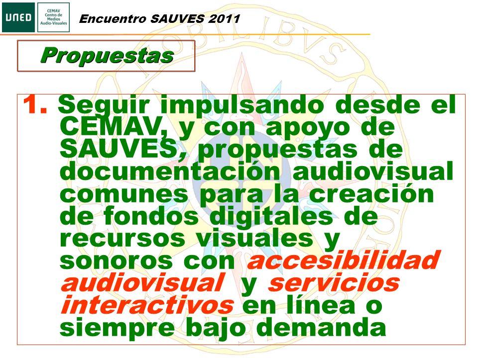 Encuentro SAUVES 2011 Propuestas.