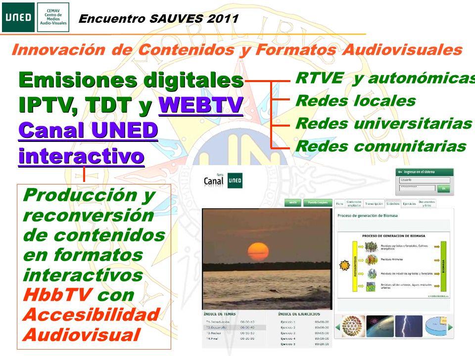Emisiones digitales IPTV, TDT y WEBTV Canal UNED interactivo