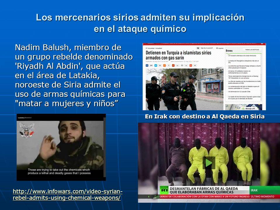Los mercenarios sirios admiten su implicación en el ataque químico