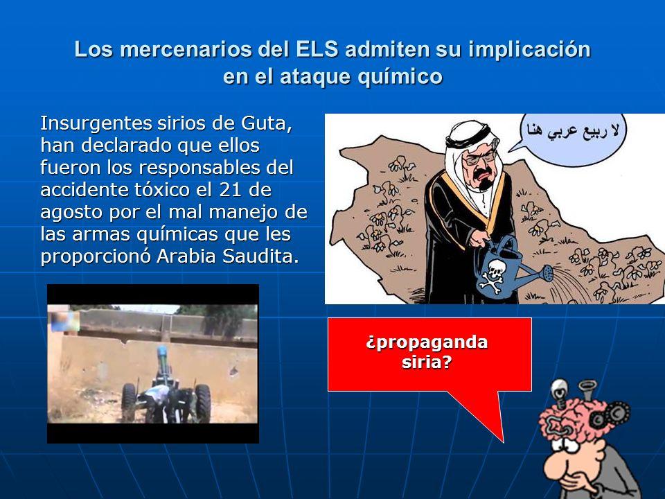 Los mercenarios del ELS admiten su implicación en el ataque químico