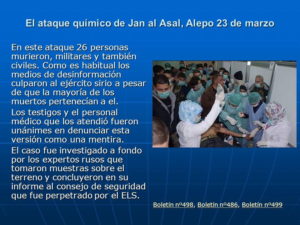 El ataque químico de Jan al Asal, Alepo 23 de marzo
