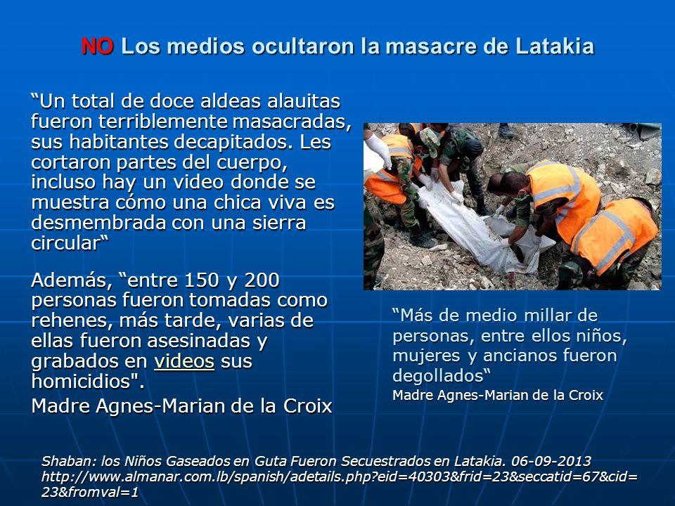 NO Los medios ocultaron la masacre de Latakia