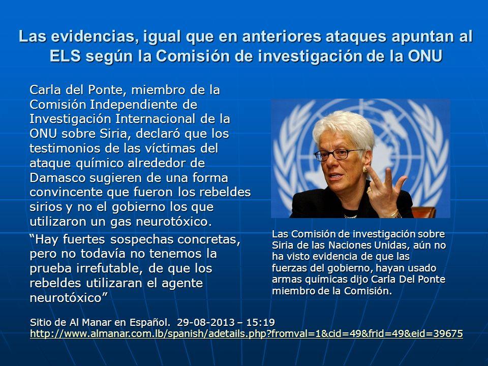 Las evidencias, igual que en anteriores ataques apuntan al ELS según la Comisión de investigación de la ONU