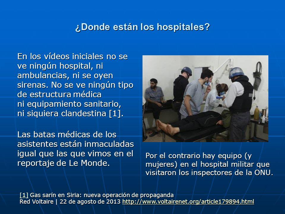 ¿Donde están los hospitales