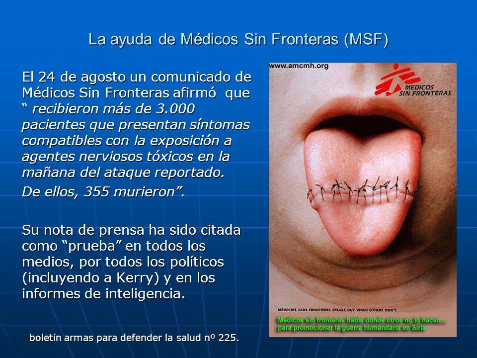La ayuda de Médicos Sin Fronteras (MSF)