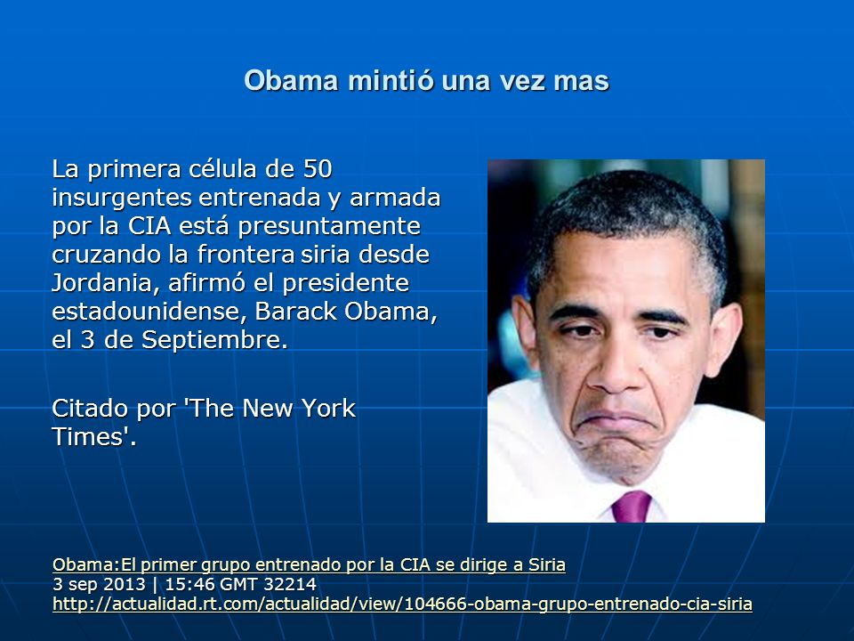 Obama mintió una vez mas