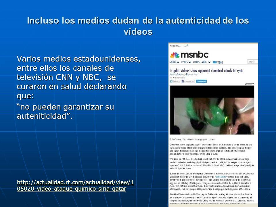 Incluso los medios dudan de la autenticidad de los vídeos
