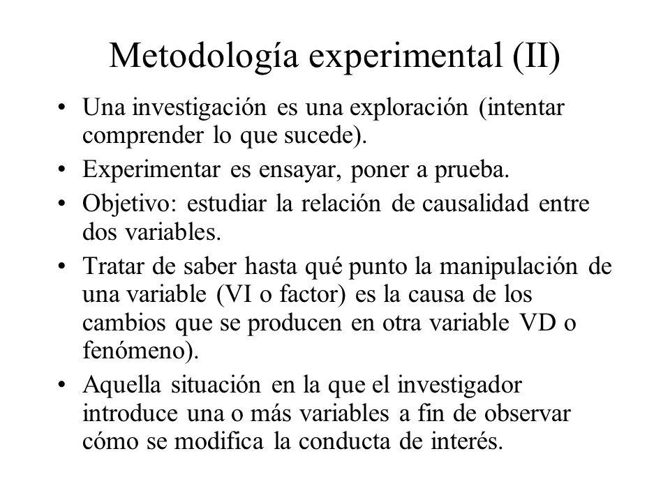 Metodología experimental (II)