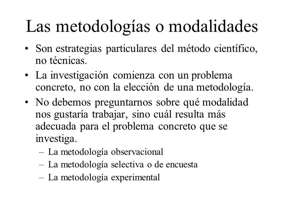 Las metodologías o modalidades