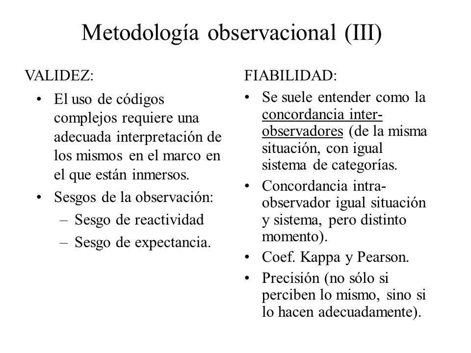 Metodología observacional (III)