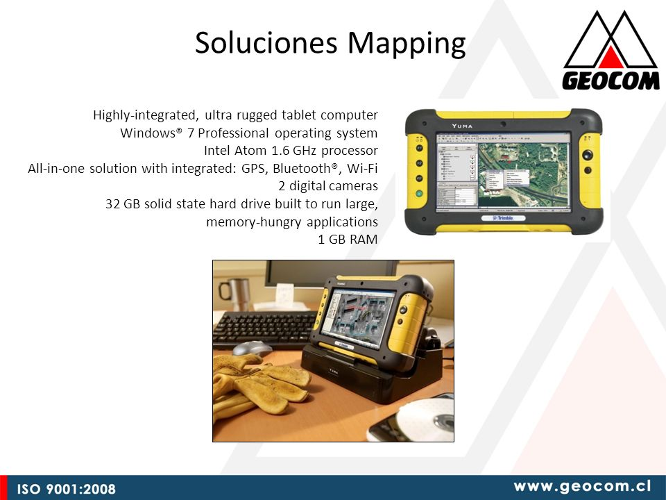 Soluciones Mapping Highly-integrated, ultra rugged tablet computer