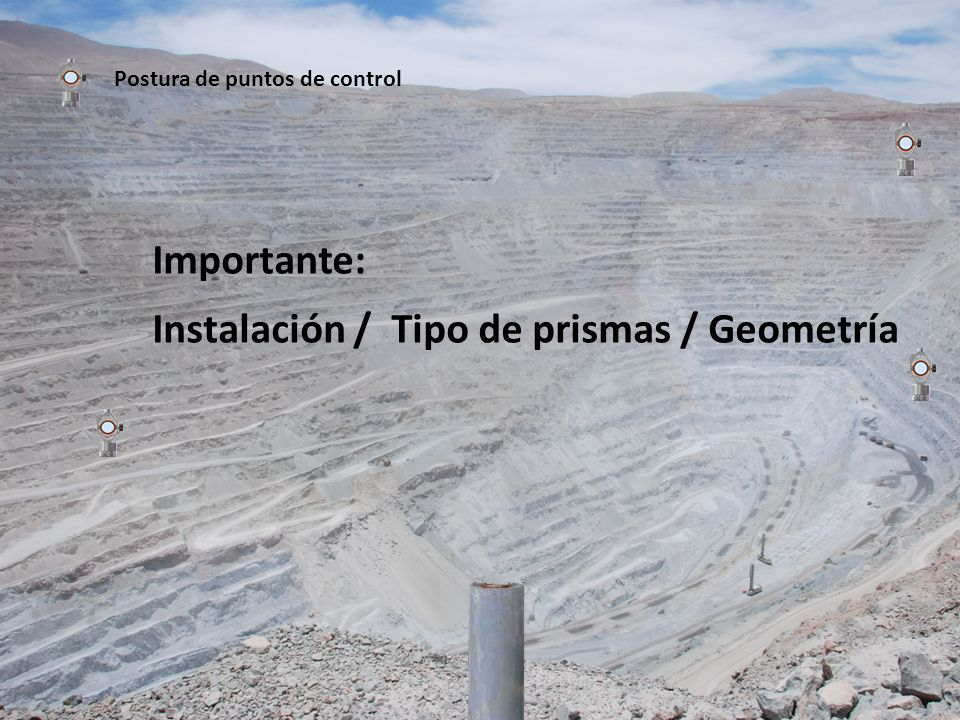 Instalación / Tipo de prismas / Geometría