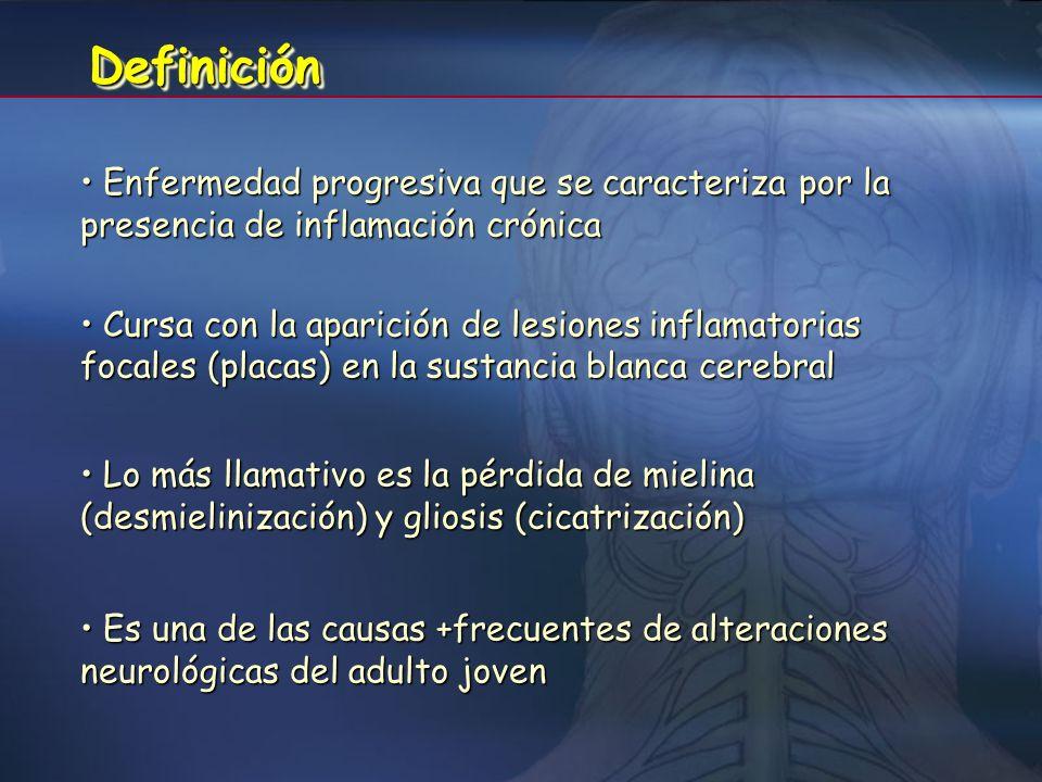 Definición Enfermedad progresiva que se caracteriza por la presencia de inflamación crónica.