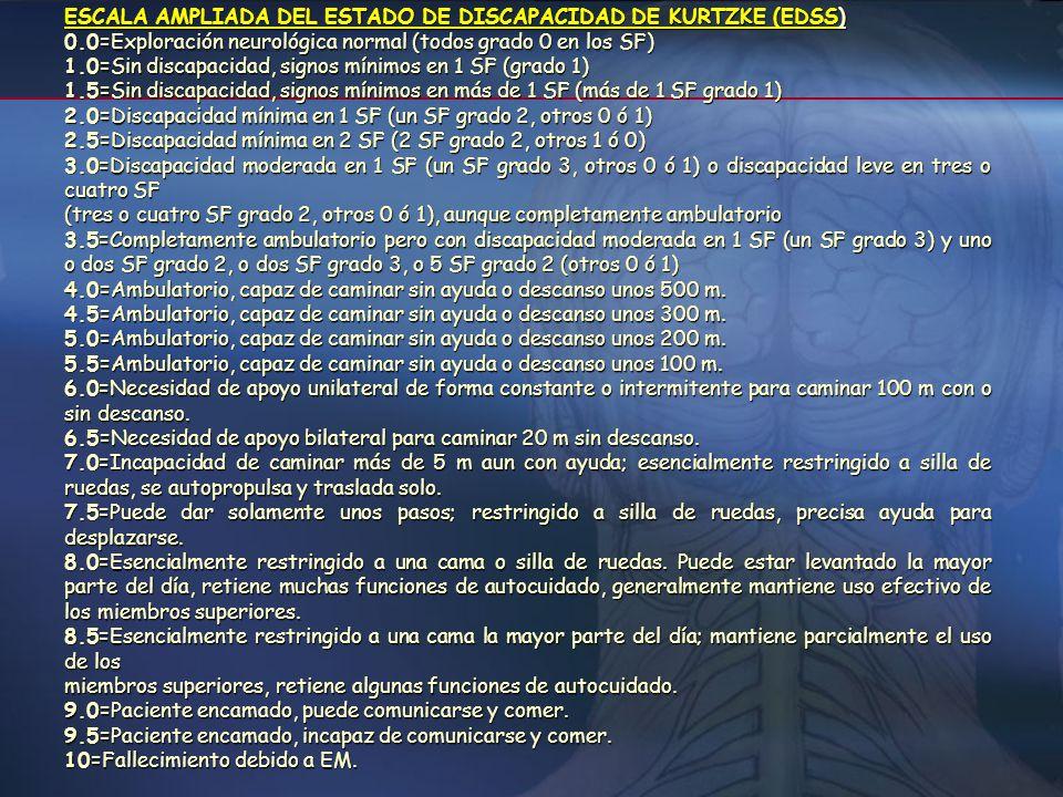 ESCALA AMPLIADA DEL ESTADO DE DISCAPACIDAD DE KURTZKE (EDSS)