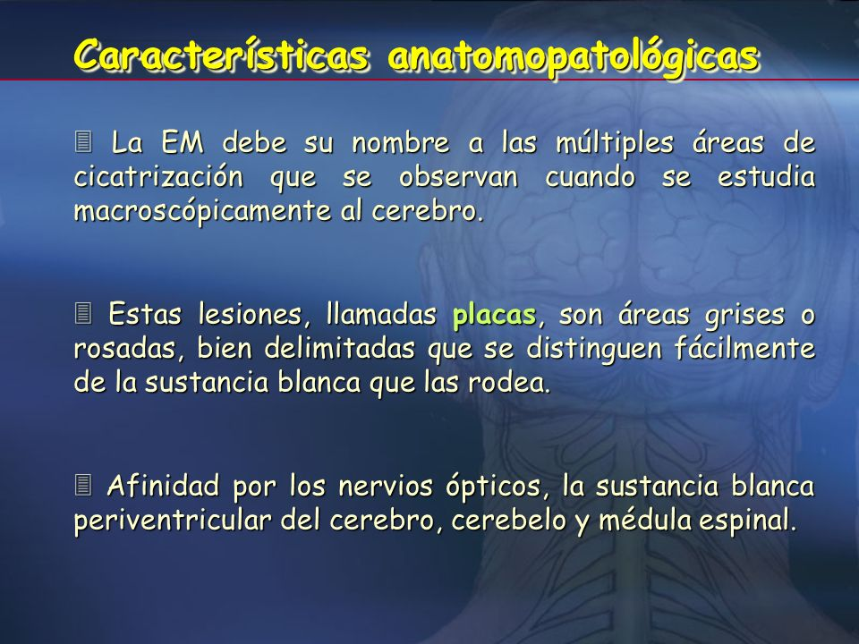 Características anatomopatológicas