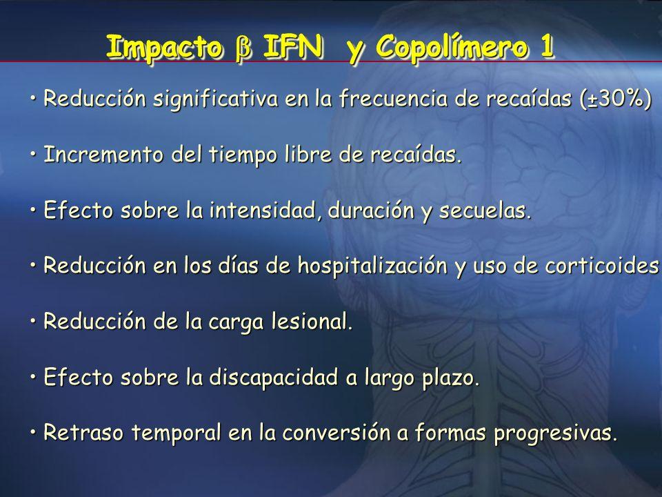 Impacto  IFN y Copolímero 1