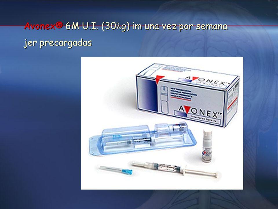 Avonex® 6M U.I. (30g) im una vez por semana