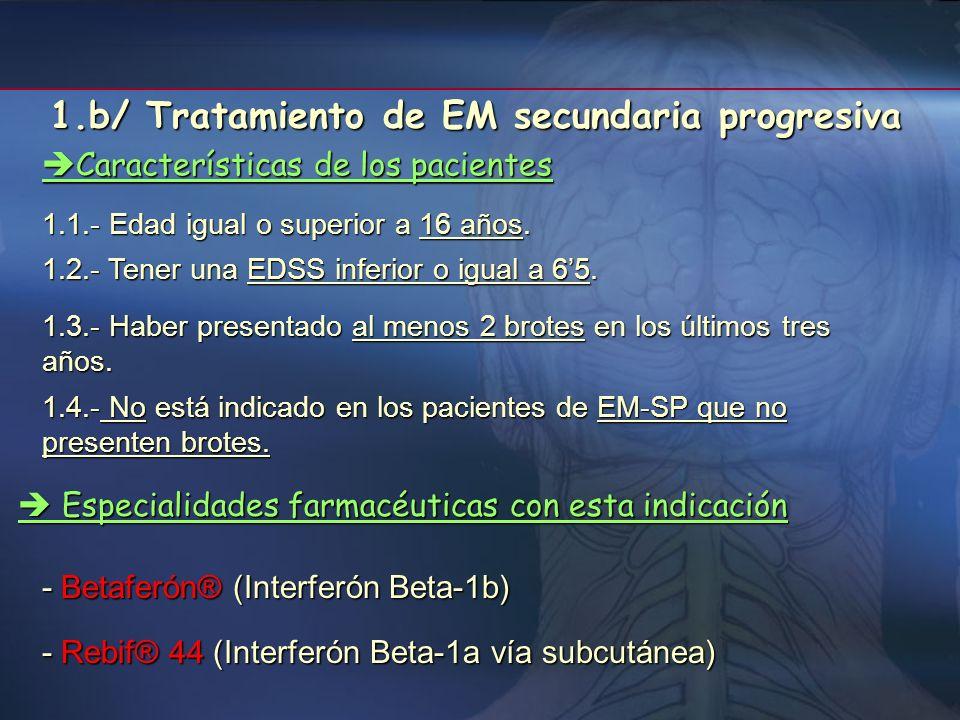 1.b/ Tratamiento de EM secundaria progresiva