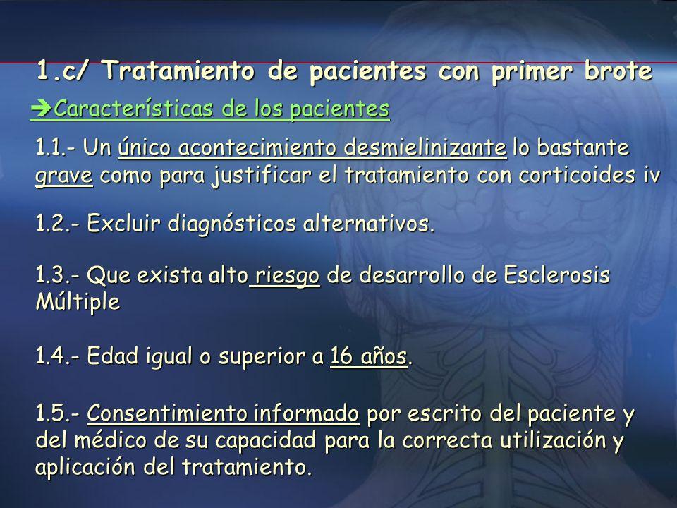 1.c/ Tratamiento de pacientes con primer brote