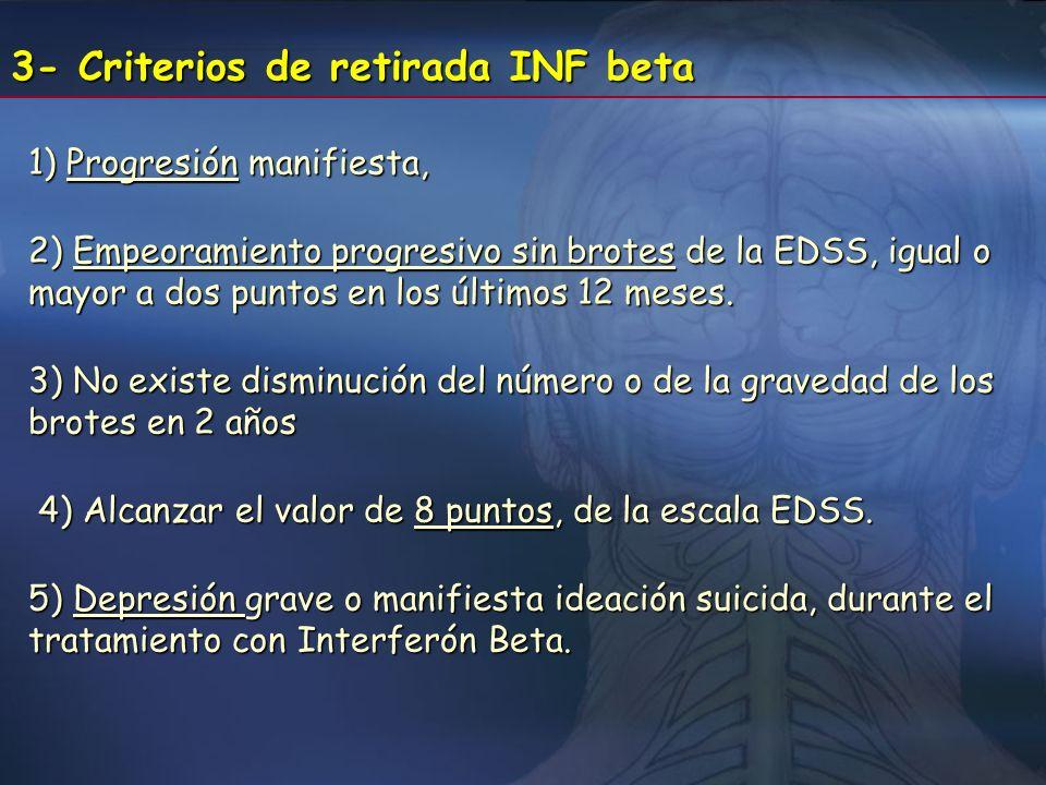 3- Criterios de retirada INF beta