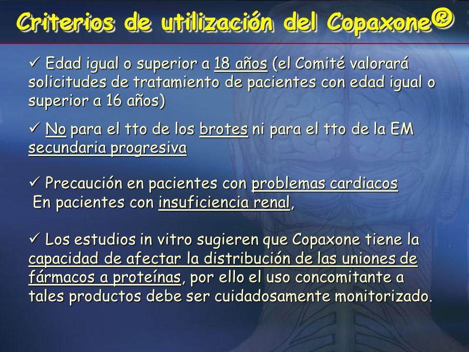 Criterios de utilización del Copaxone®