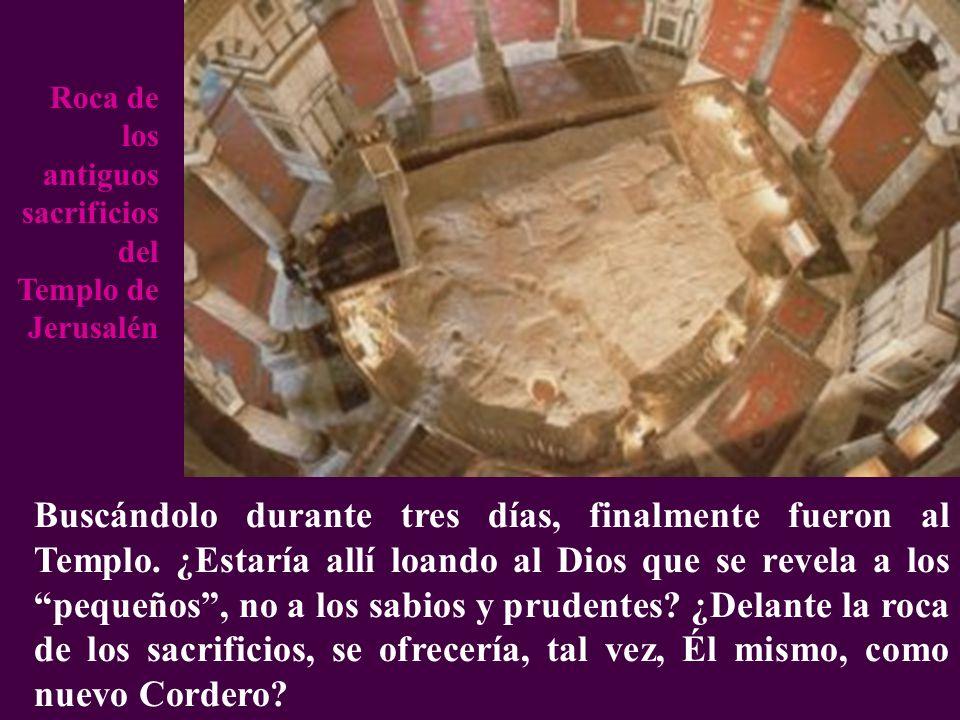 Roca de los antiguos sacrificios del Templo de Jerusalén