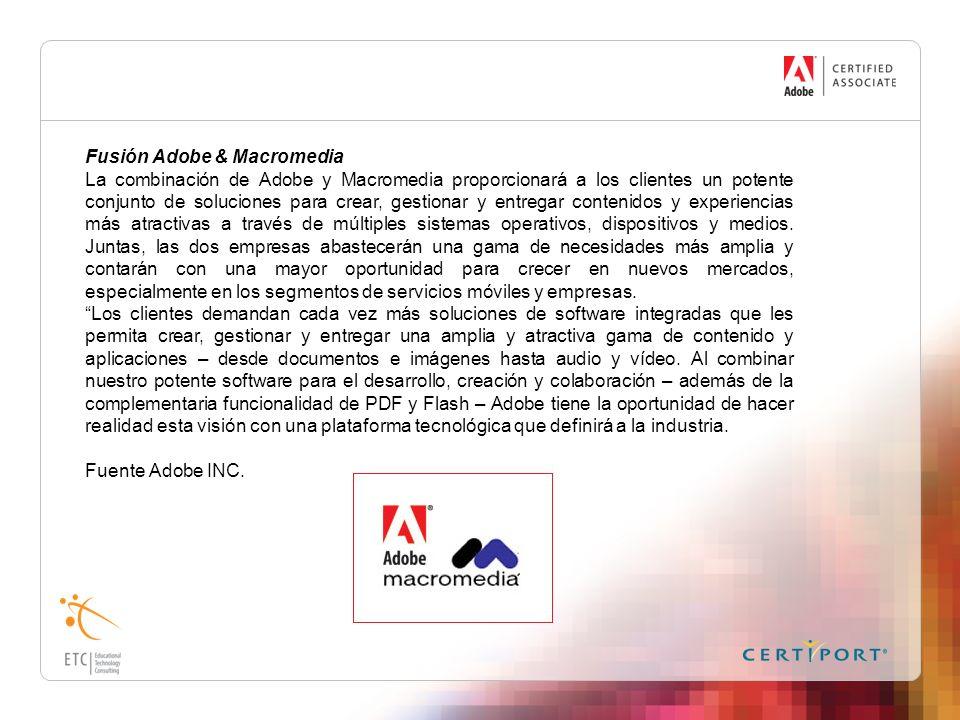 Fusión Adobe & Macromedia