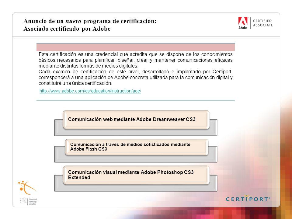 Anuncio de un nuevo programa de certificación: Asociado certificado por Adobe