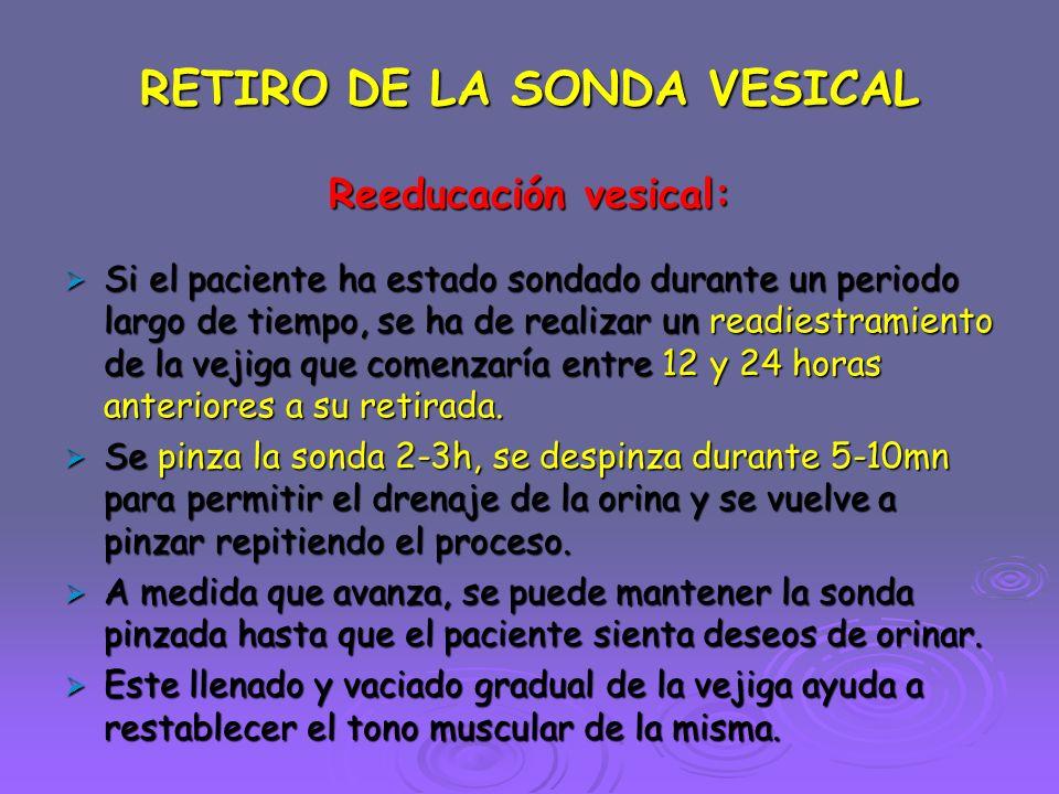 RETIRO DE LA SONDA VESICAL
