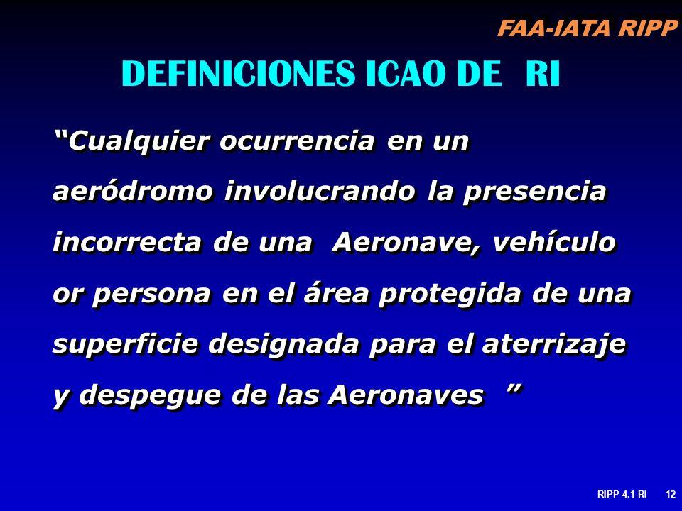 DEFINICIONES ICAO DE RI