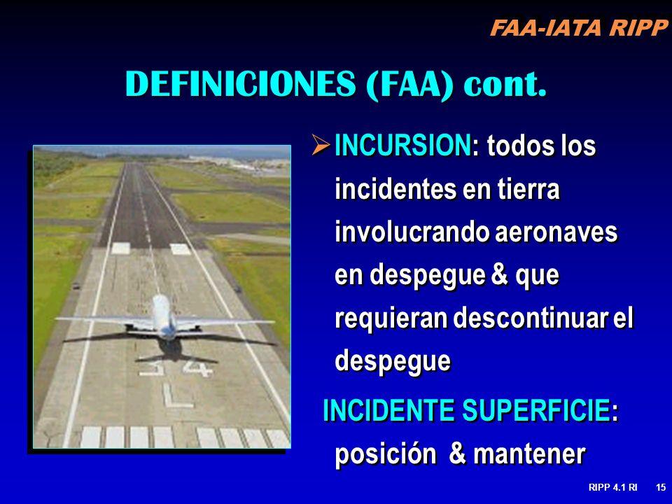 DEFINICIONES (FAA) cont.