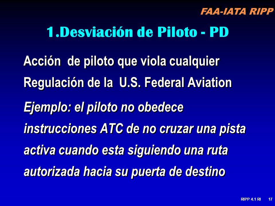 Desviación de Piloto - PD