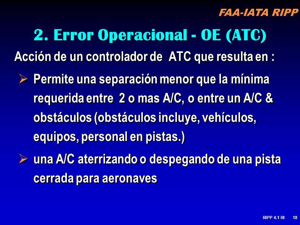 2. Error Operacional - OE (ATC)