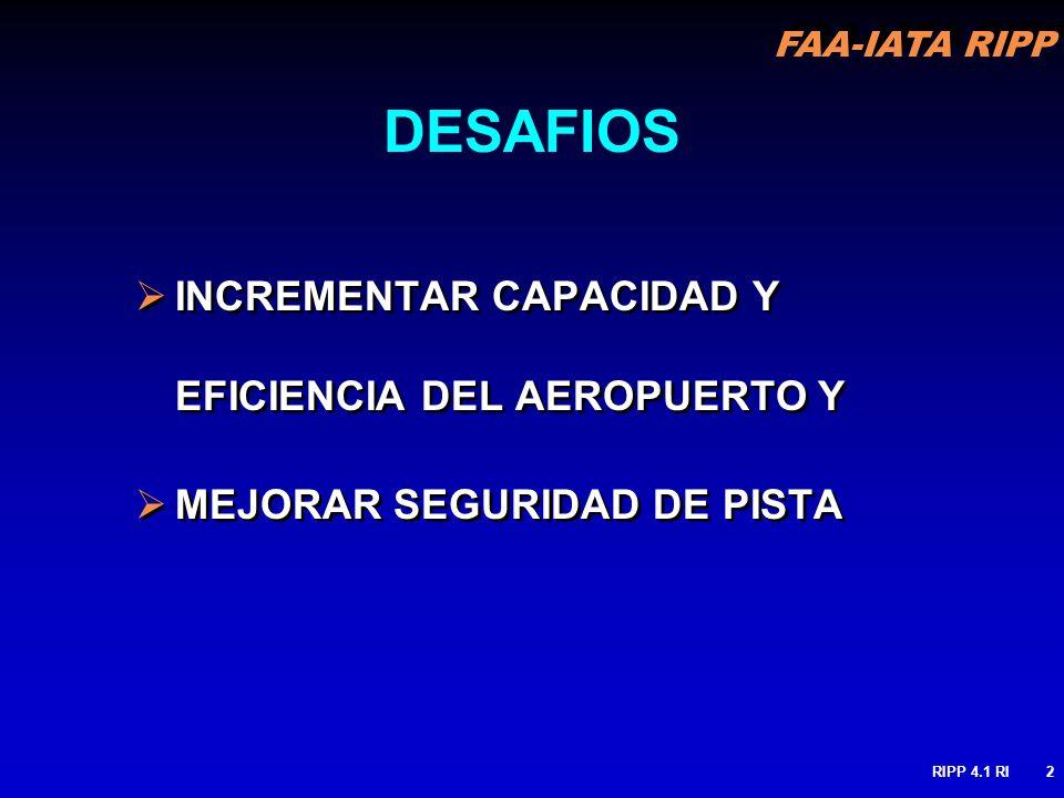 DESAFIOS INCREMENTAR CAPACIDAD Y EFICIENCIA DEL AEROPUERTO Y