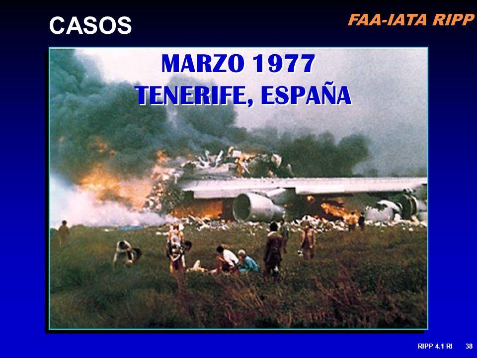 CASOS MARZO 1977 TENERIFE, ESPAÑA RIPP 4.1 RI