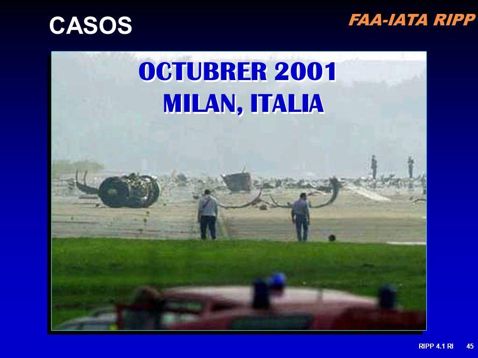 CASOS OCTUBRER 2001 MILAN, ITALIA RIPP 4.1 RI