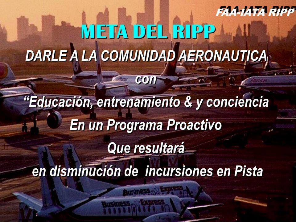 META DEL RIPP DARLE A LA COMUNIDAD AERONAUTICA con