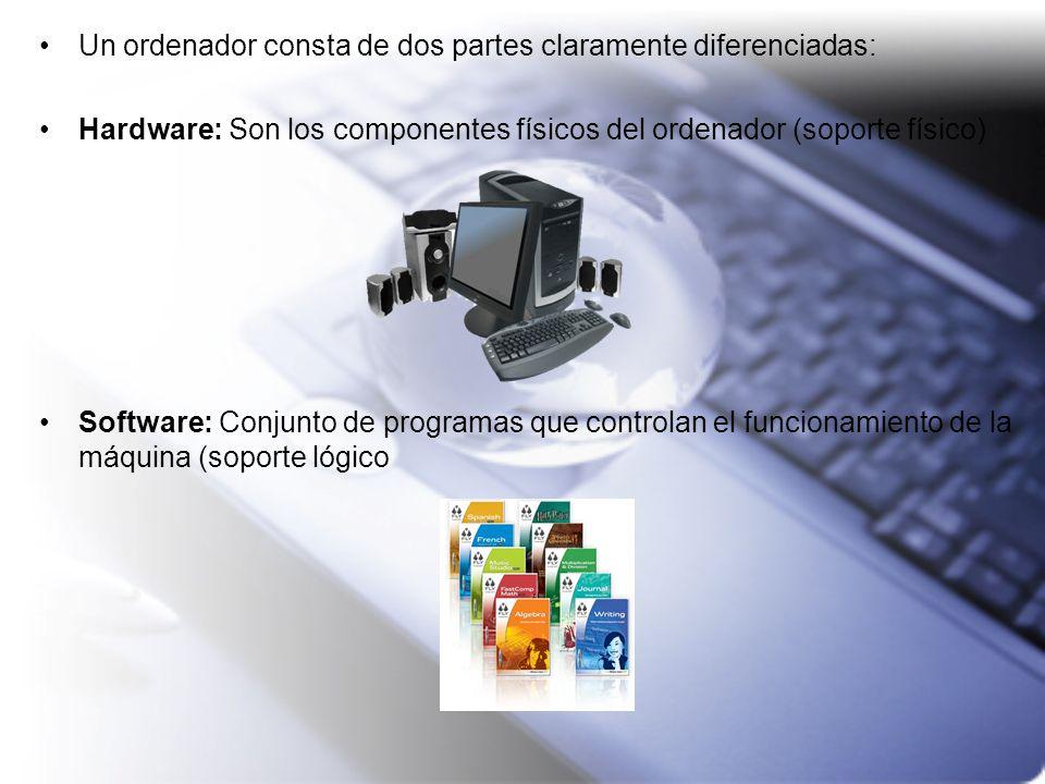 Un ordenador consta de dos partes claramente diferenciadas:
