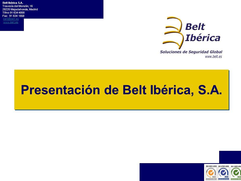 Presentación de Belt Ibérica, S.A.