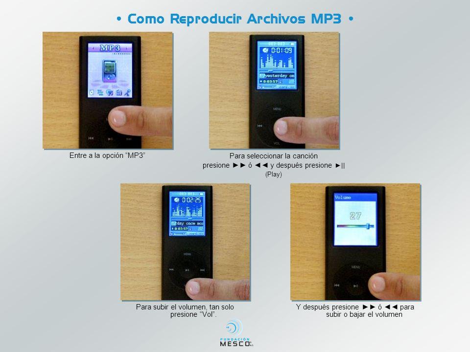 • Como Reproducir Archivos MP3 •