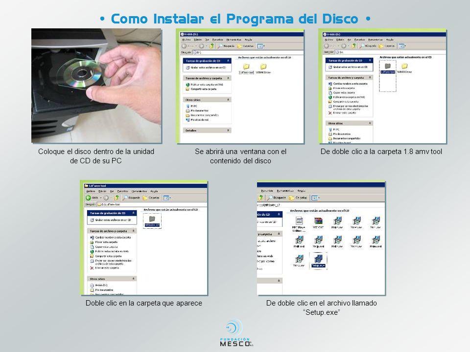 • Como Instalar el Programa del Disco •